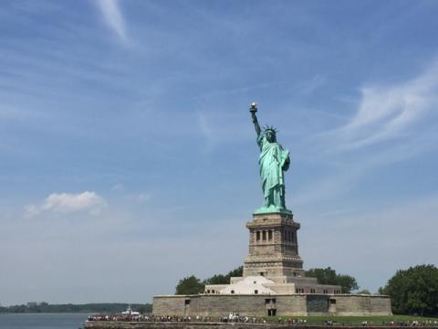 Complete view of Statue of Liberty