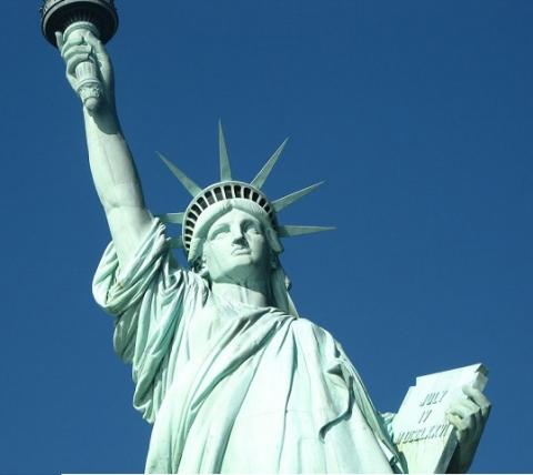 A closer look of Statue of Liberty, New York
